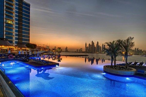 Výhled zDUKES Dubai Hotel - Palm Jumeirah