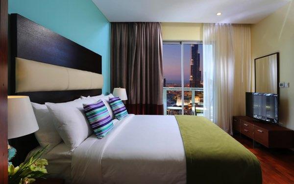 Výhled zRamada Downtown Dubai