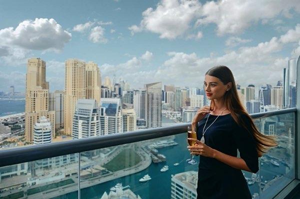 Výhled zWyndham Dubai Marina