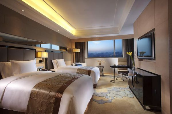 Výhled zCrowne Plaza Xi'an