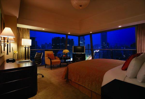 Výhled zShangri-La Hotel Xi'an
