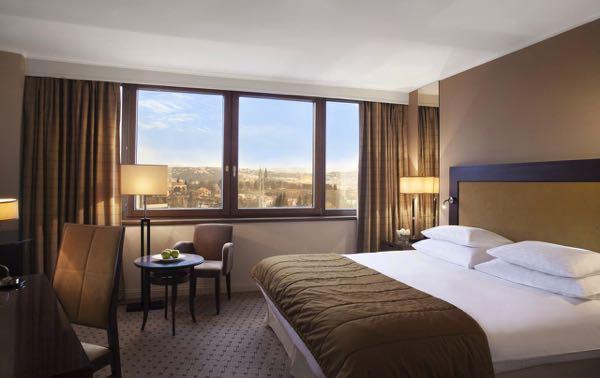 Výhled zCorinthia Hotel Prague