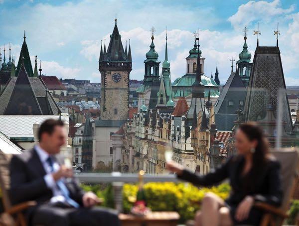 Výhled zInterContinental Prague