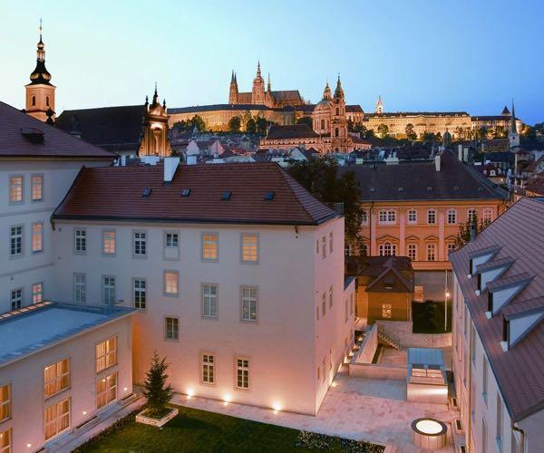 Výhled zMandarin Oriental, Prague
