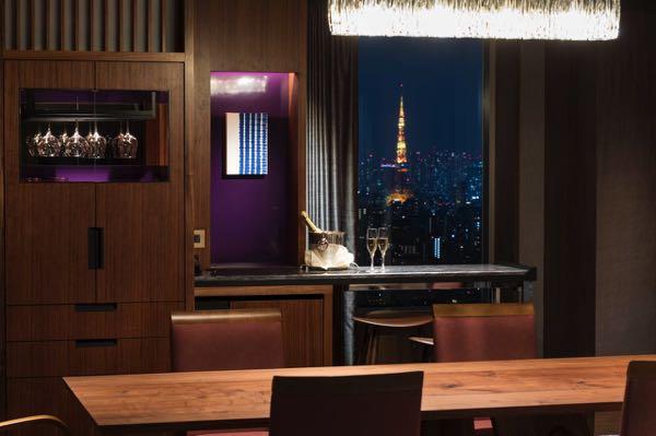 Výhled zCerulean Tower Tokyu Hotel