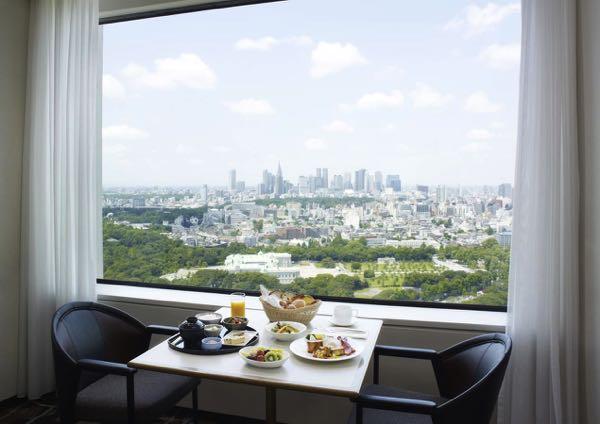 Výhled zHotel New Otani Tokyo Garden Tower