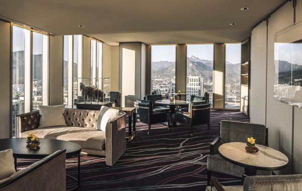 Výhled zFour Seasons Hotel Seoul