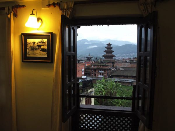 Výhled zVajra Guest House & Restaurant
