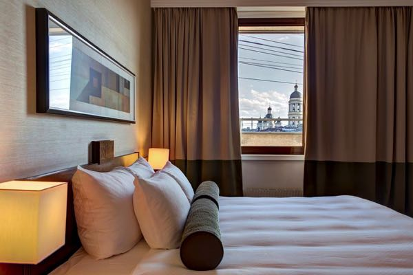 Výhled zCorinthia Hotel St Petersburg